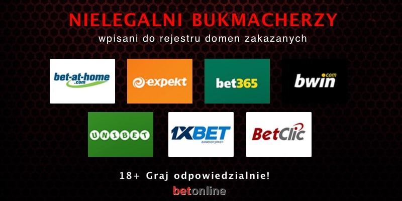 Którzy bukmacherzy są w Polsce nielegalni?