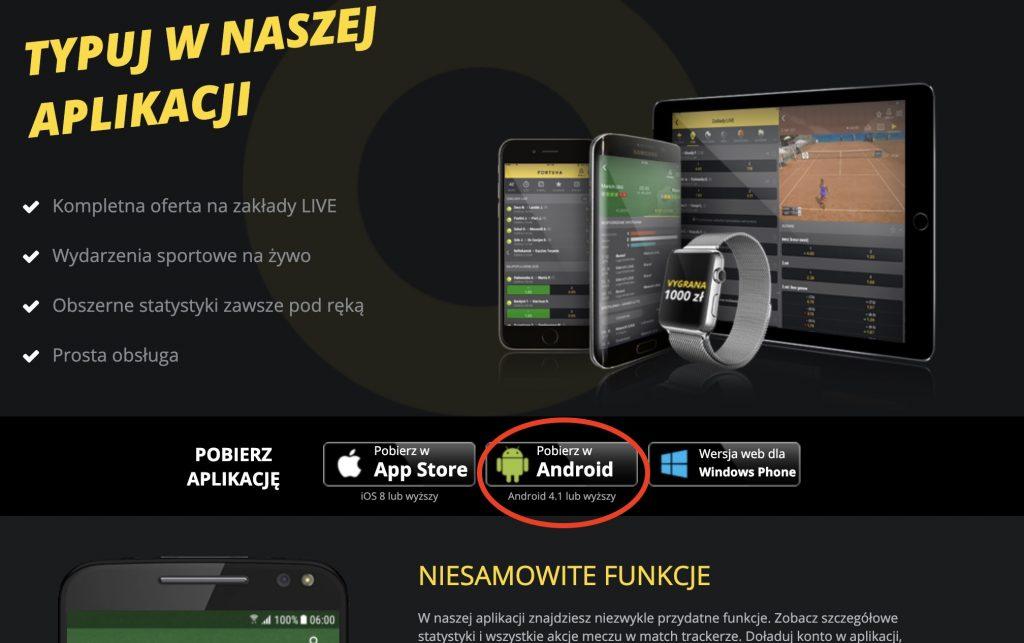 Bukmacher na Androida