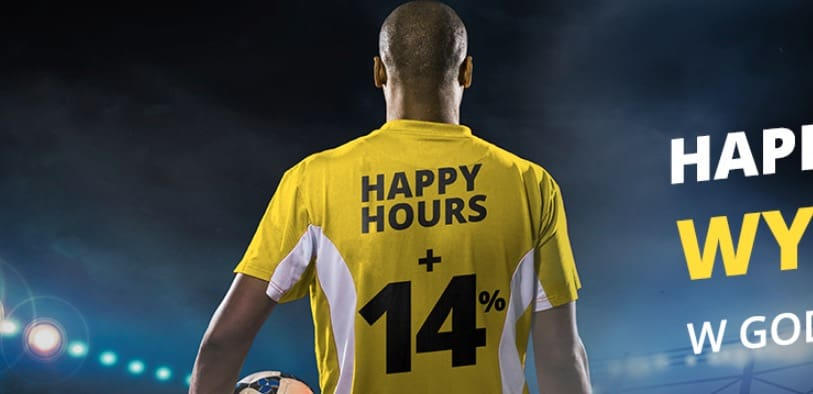 Wtorkowe Happy Hours w Fortuna Online. 14% więcej!