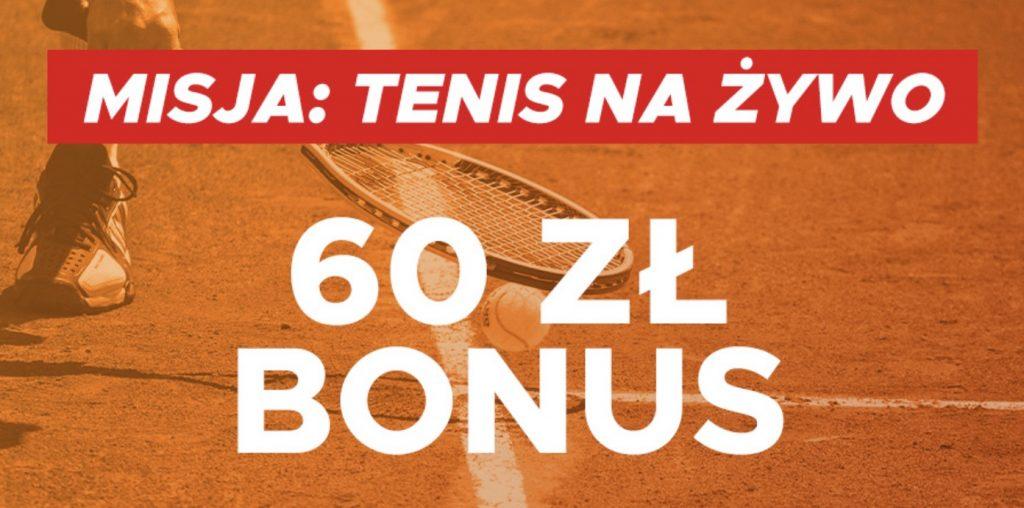 Misja: Tenis Na Żywo. Bonus 60 PLN w Betclic Polska!